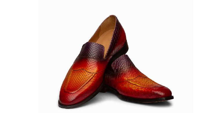 Our Products: Oxfords Loafers Boots Derbies Accessories Monkstraps Latest Product: PYTHON PRINT PENN...