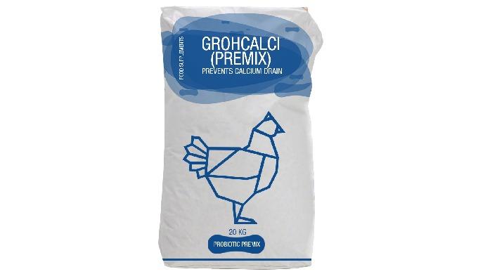 GROHCALCI PREMIX Grohcalci Premix improves bone strength, eggshell quality, health, growth, producti...