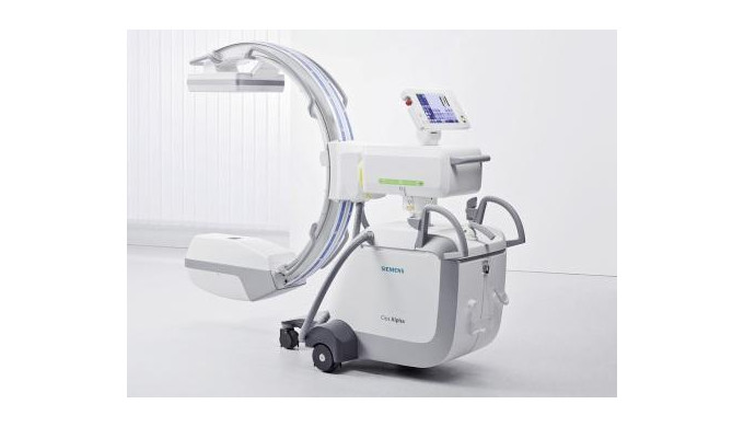 Mobile X-ray apparatus SIEMENS Cios Alpha. Cios Alpha is a high‐definition 2D mobile C‐arm designed ...