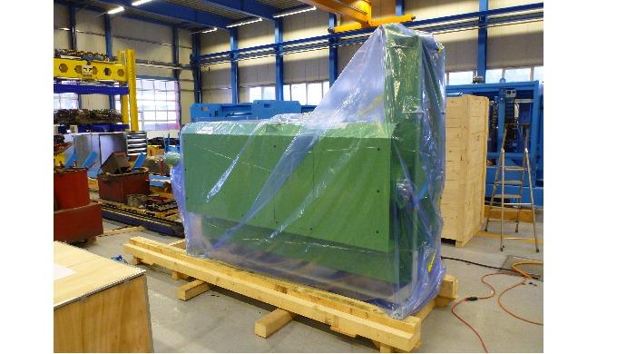 Verpacken von Anlagen im Werk des Kunden