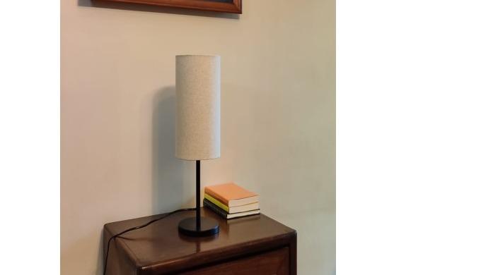 Modern Sleek Table Lamp including lampshade Finish: Polished Black / Satin Nickel Material: Metal Si...