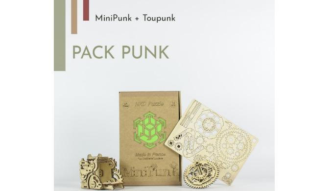 Pack jeux de construction en bois Steampunk Vous êtes un fan d'engrenages et de steampunk ? Découvre...