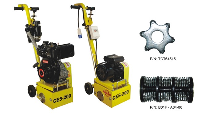 CIMAR Scarifier CES-200 series (Made in Singapore by Teesin Machinery Pte Ltd) CIMAR scarifier comes...