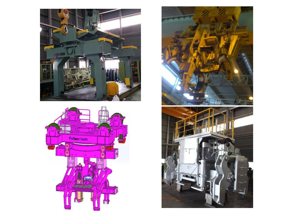 Tongs for rolling mill