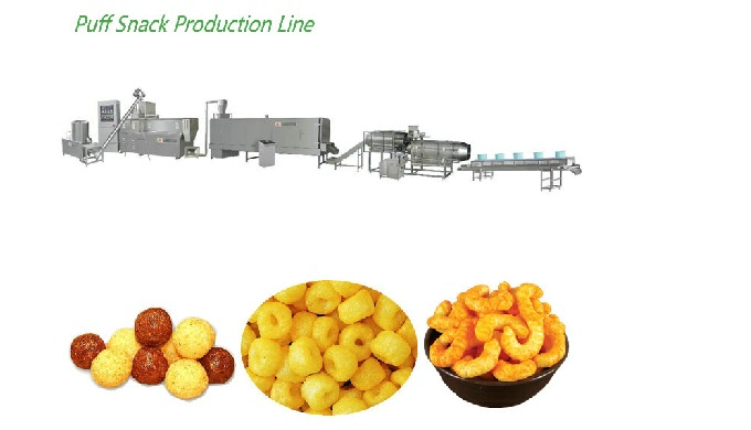Corn Puff Snack Machine is most popular type in market. Its products are welcomed by different crowd...