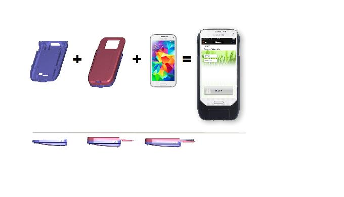 Linea S ist eine 2D-Scanhülle für android-basierende Smartphones