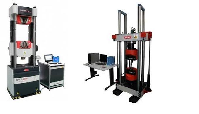 Hydraulické a elektromechanické zkušební stroje