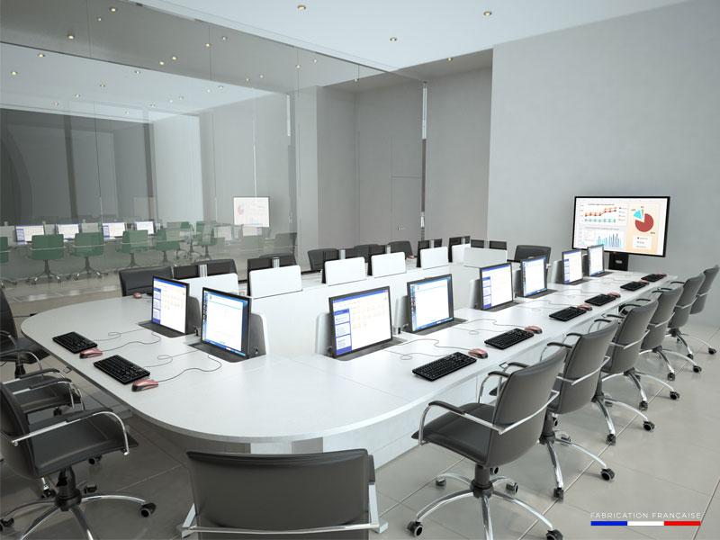 Mobilier informatique pour salles de formation et de réunion