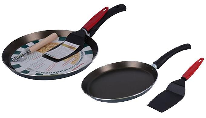 Besoin d'une poêle anti-adhérente pratique pour réussir vos crêpes , baghrir marocains et pancakes? ...