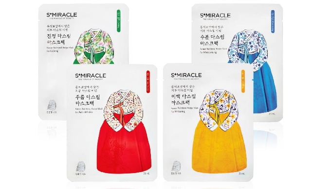 S+MIRACLE Korean Traditional  Racipe Mask For Moisturizing ( Whitening, Anti-wrinkle, Calming)