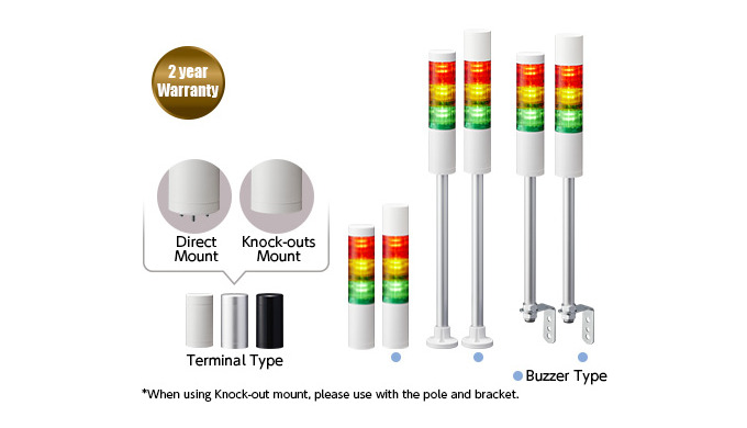 LR5 Luces de la columna de señalización LED de 50mm