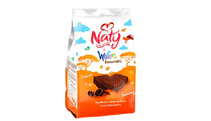 Naty are a delicious and crunchy wafers, presented in different flavors and sizes. You can find in o...
