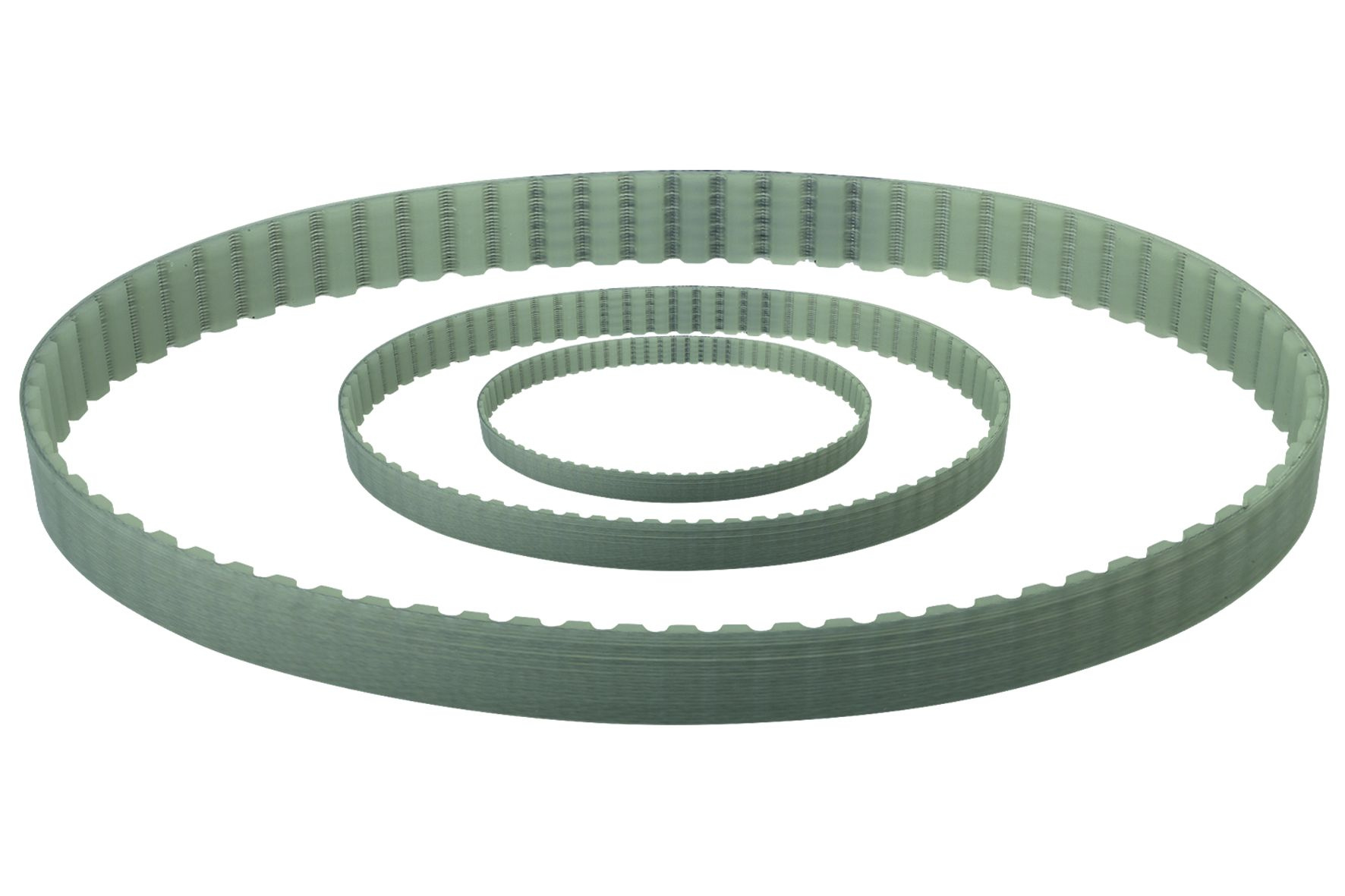 Material: Polyurethane (PU) with steel cord reinforcement Profile AT: Endless toothed belt with trap...