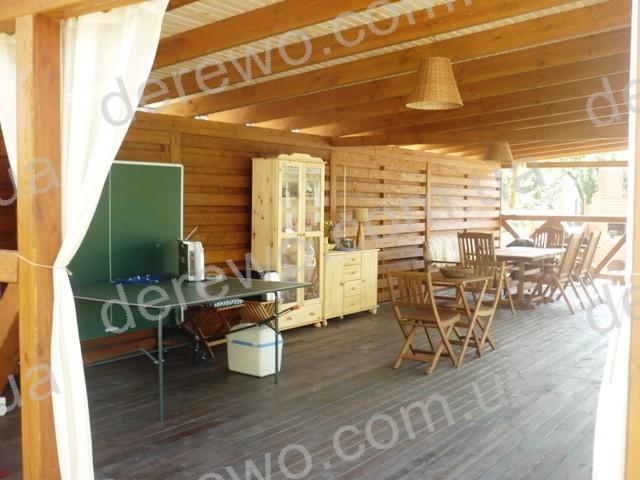 Террасы, навесы, веранды из дерева для дач и коттеджей, кафе, рестаранов