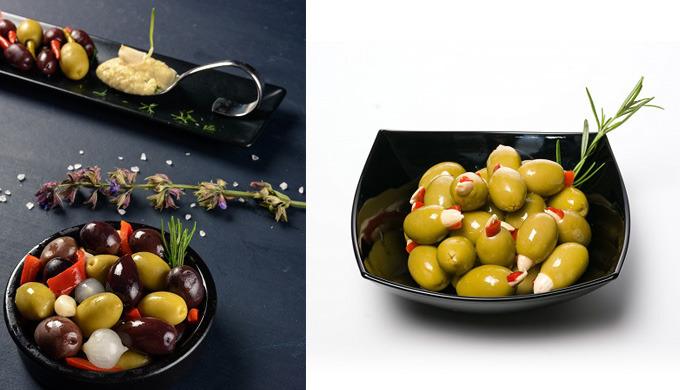 Olives, unstoned, preserved