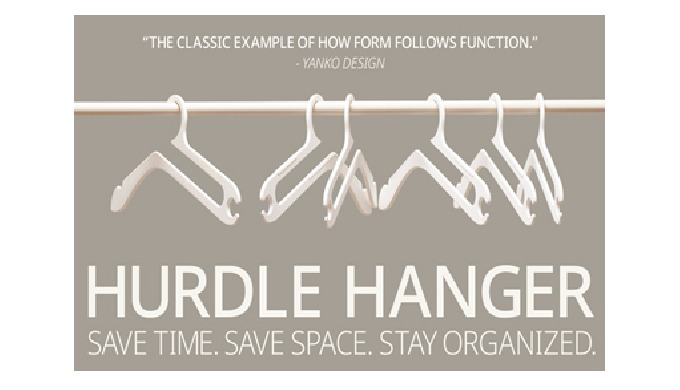 Meet Hurdle Hanger, our innovative take on an all-purpose hanger. It's designed to help you organize...