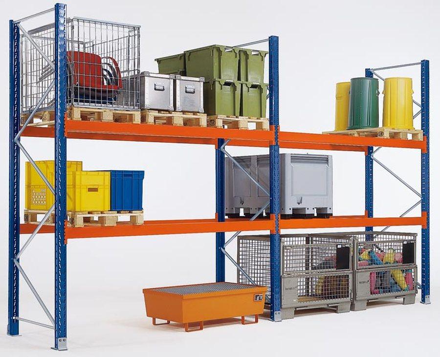 Stahl, kunstharzlackiertGesamthöhe = Rahmenhöhe + 5 mm Fußplattenhöhe. Stützrahmen: Aus 2 Ständerpro...