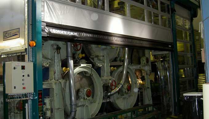 Hottes et caissons soufflants pour l'industrie du papier.