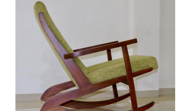 The outer frame of Lounge chair is made of solid wood and carved and polished to perfection. The bac...