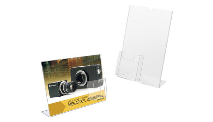 - Utilisation sur un comptoir pour la présentation et la distribution de documents - Pour visuel A4 ...