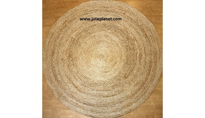 We are largest manufacturer and exporter of round jute rugs from India. Our round jute rugs are made...