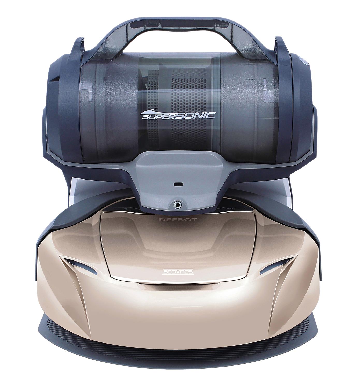 Ecovacs D77 je praktický robotický vysavač 2 v 1. Jeho speciální nabíjecí stanice obsahuje i ruční b...