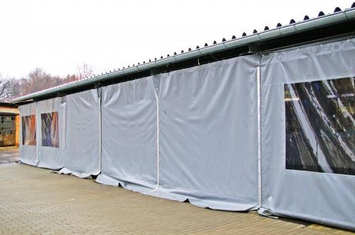 Opláštění typ KUBA Pouze PVC plachta bez oken, vhodné jako dělící plachta do dílen, garáží, kulen at...