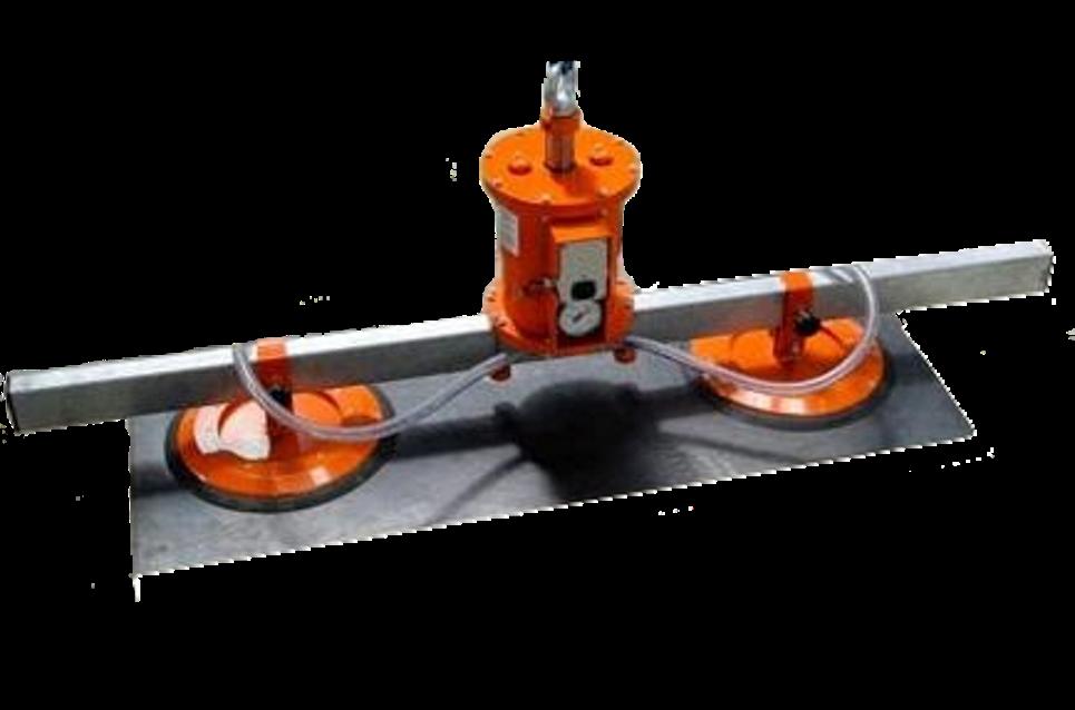 Vakuový samopřísavný manipulátor dvou-přísavkový, je určen pro horizontální přemisťování plochých bř...