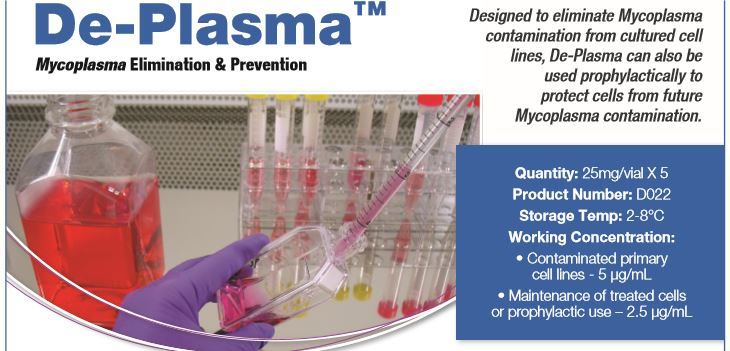 De-Plasma Mycoplasma Elimination & Prevention Reagent