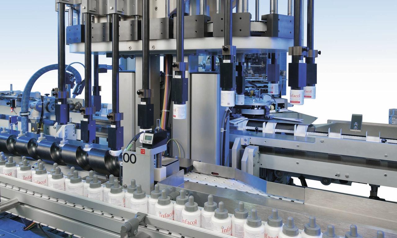 Behältnisse:- Behältniseinteilung über Einlaufschnecke - Behältnistransport mittels Pucks für flexib...