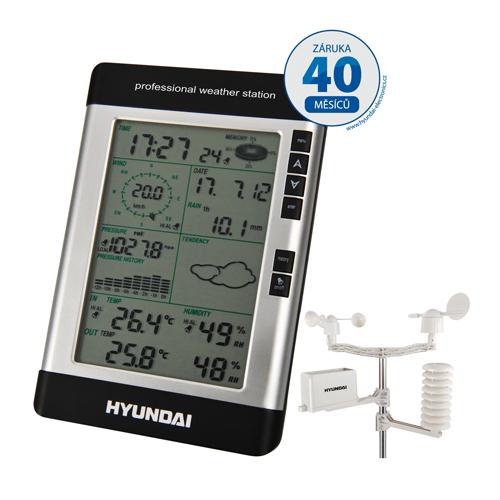 Vysoce kvalitní meteorologická stanice Hyundai WSP 2080 R WIND vás bude spolehlivě informovat o komp...