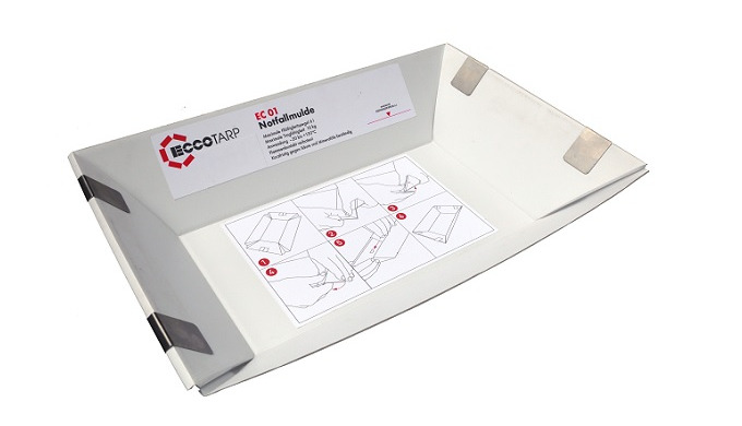 Universal foldable container suitable for using e.g. during breakdowns and accidents, where is possi...