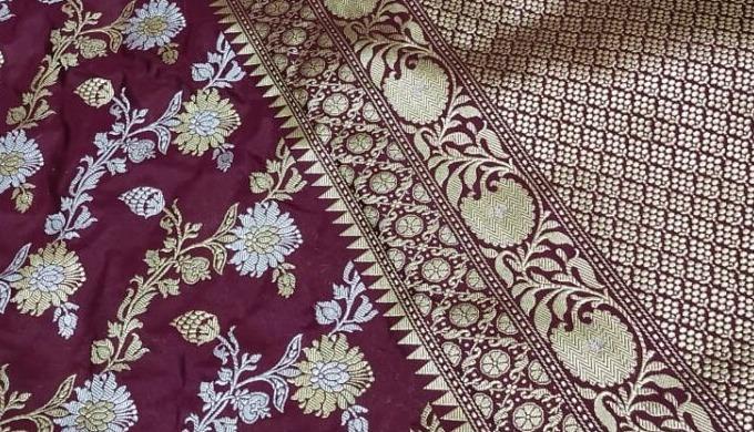Add the latest designer collection of banarasi kora silk saree and rangkaat saree to your wishlist. ...