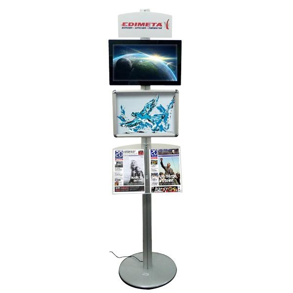 Le numérique au service de votre communication !Kit totem displays-dynamique sur pied.Fronton signal...