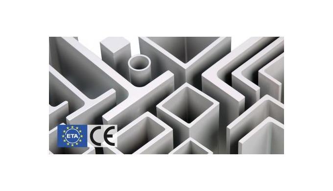 Samlet oversigt over Fiberlines konstruktionsprofiler inklusiv lagerstatus og tekniske specifikation...