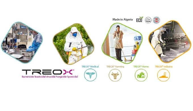 Le désinfectant avec principe actif de TREOX D élimine rapidement les virus, les bactéries, les germ...