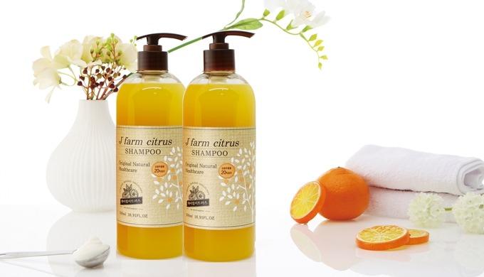 J' farm citrus Jeju Tangerine Natural Hair Shampoo |  citrus shampoos