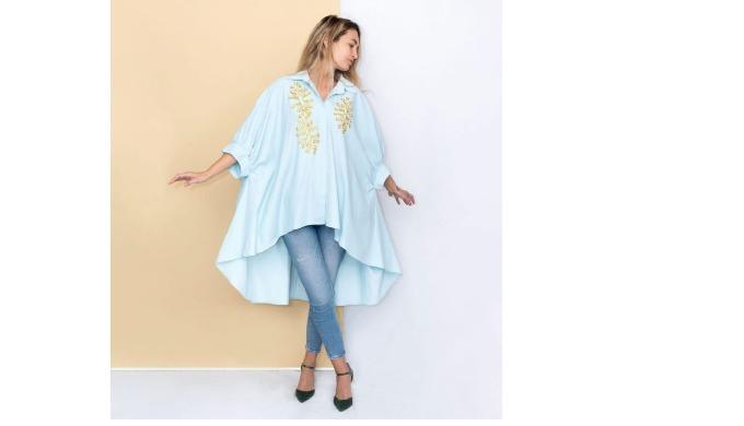 Camasa Special Boho Chic Light Blue