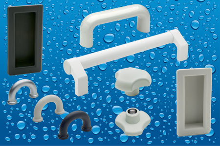 CLEAN line clamping knobs and pull handles from Elesa have been developed especially for application...