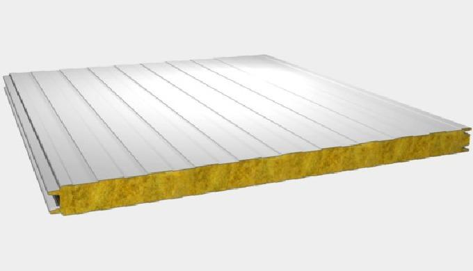 Panneaux sandwich en laine de roche (Bardage à fixation traversante)