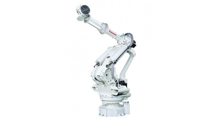 Die Roboter der M Serie für höchste Traglasten verbinden ein kompaktes Profil mit hoher Reichweite u...