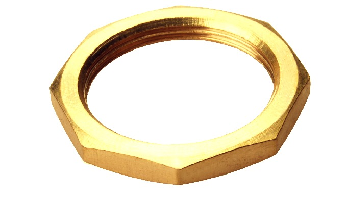 Panel Hex Nuts Brass