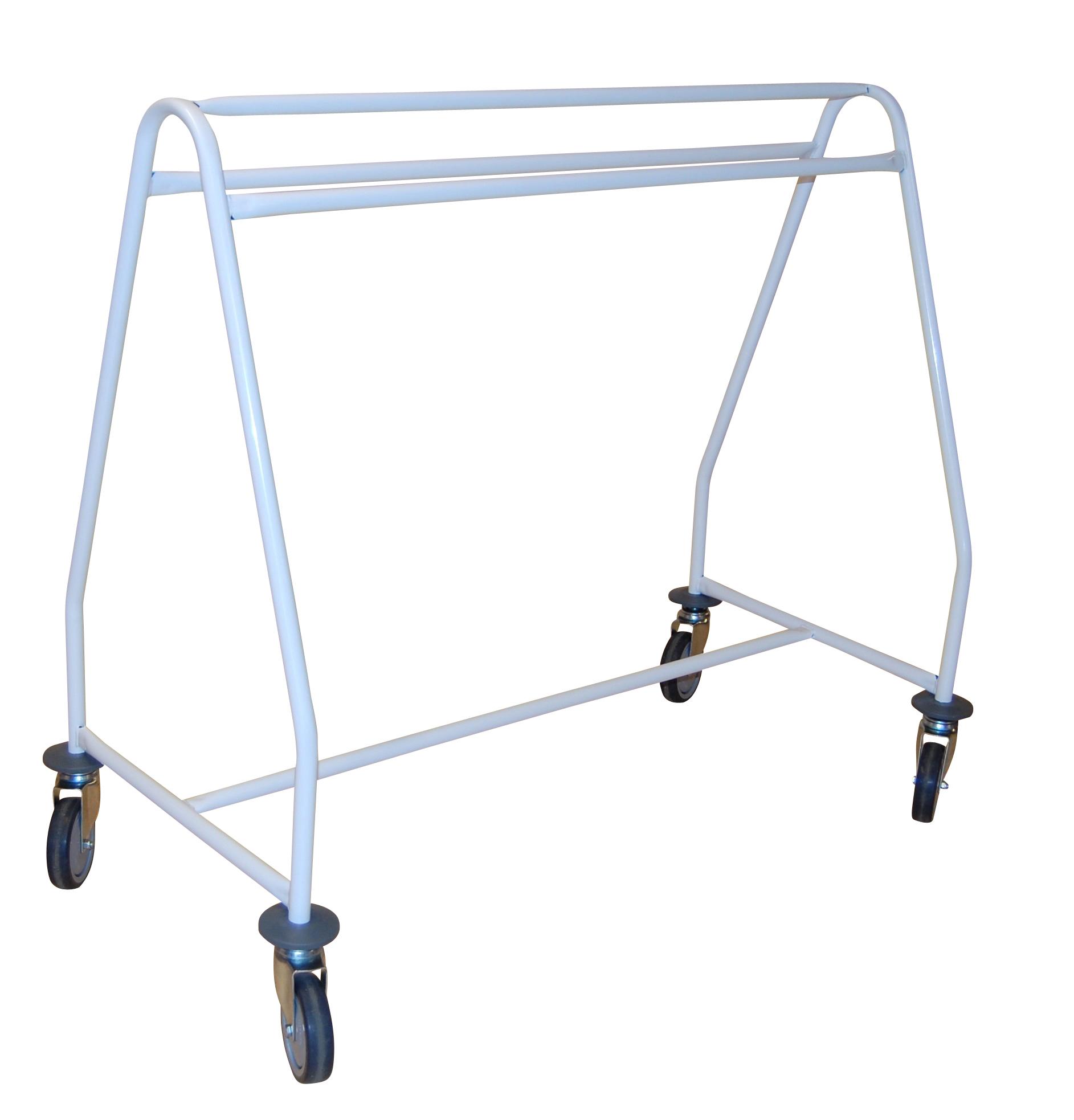 Produit: Chevalet industriel de base1 structure tube Ø 25 mm4 butoirs caoutchouc gris4 roues pivotan...