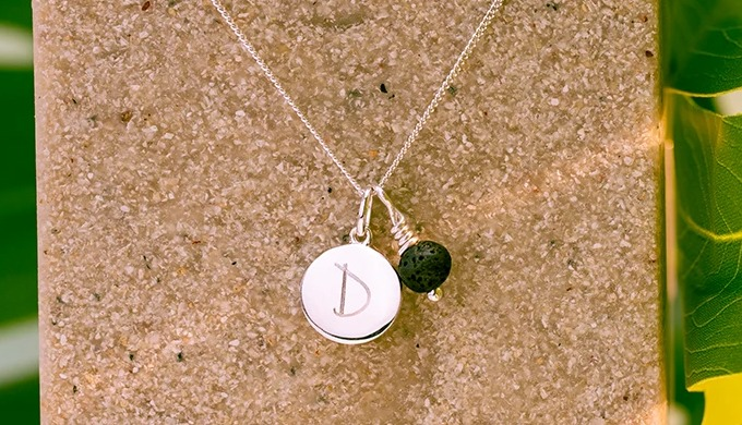 Handmade personalised jewellery using natural gemstones