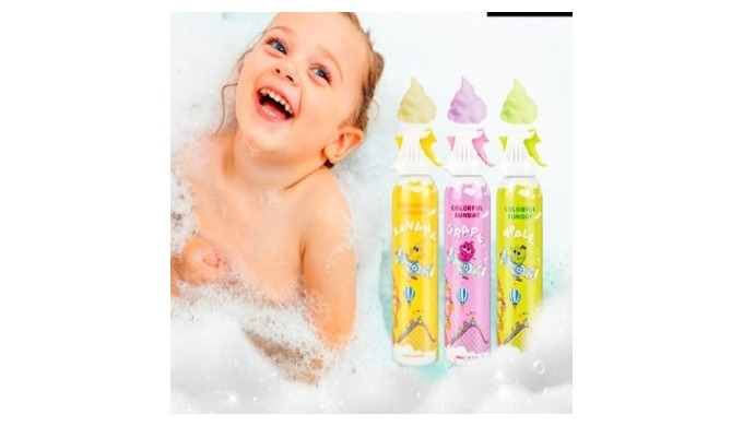 Spray mousse forming Bubble bath cleanser