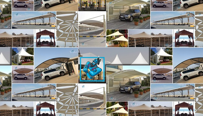 #1 Professional & Most Trusted Car Parking Shades Suppliers & Manufacturers in UAE Tent Shed With 20...