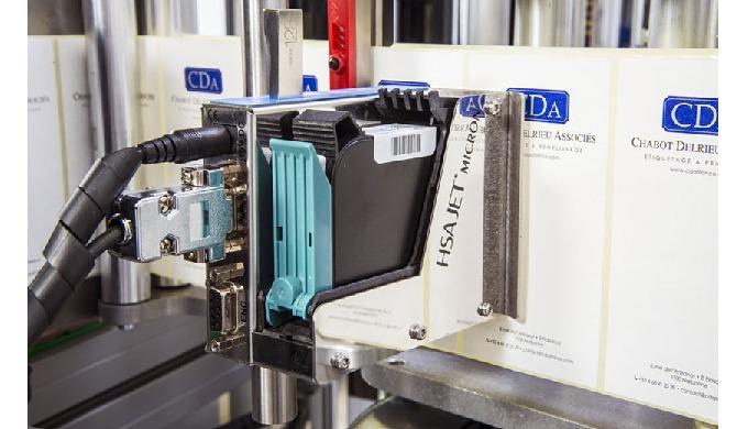 Inkjet printing HSA label marking