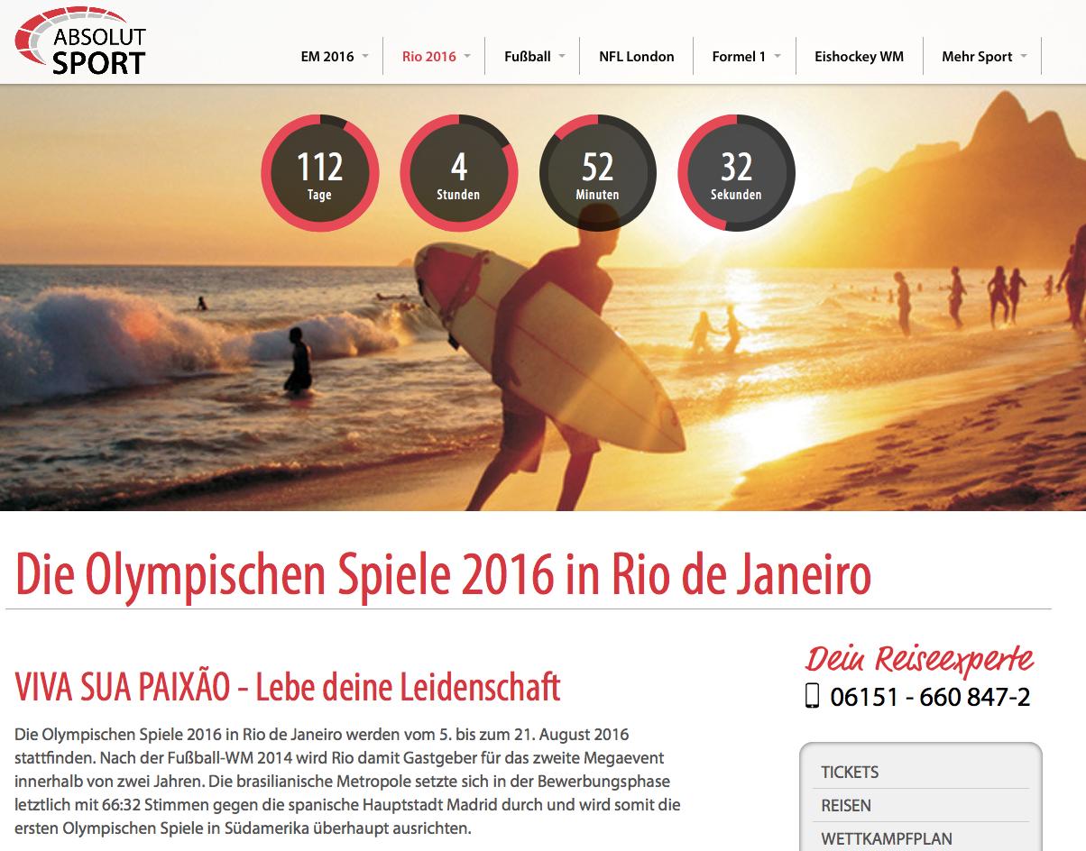 Die Olympischen Spiele 2016 in Rio de Janeiro werden vom 5. bis zum 21. August 2016 stattfinden. Nac...