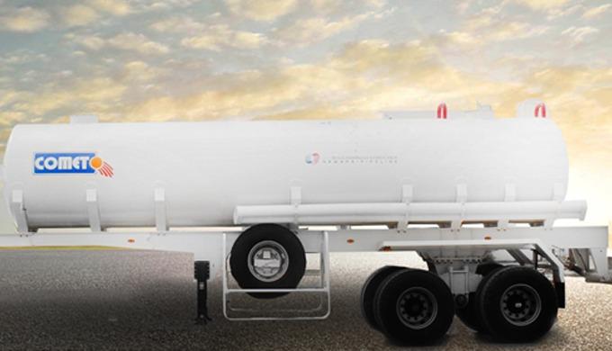 La semi-remorque citerne à eau COMET est dédiée spécialement pour le transport de l'eau mais peut êt...