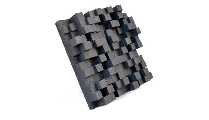 Skyline Diffuser is a three-dimensional diffusion panel that is usually applied to walls or ceilings...